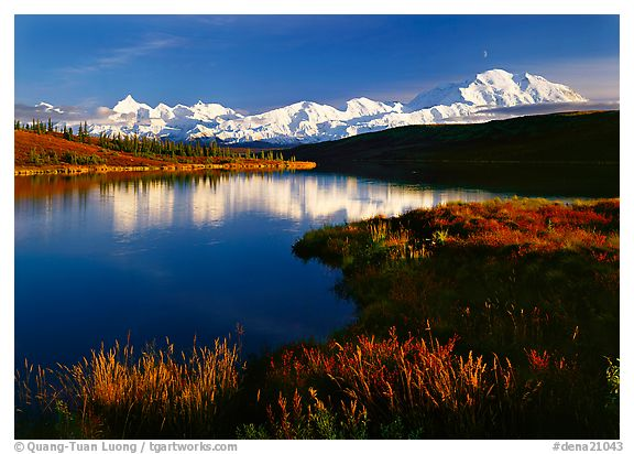 Wonder Lake, Denali National Park, Alaska.  ()