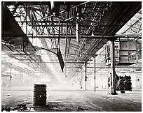Foggy Interior, Uniroyal Tire Factory, California, 1980.  ( )