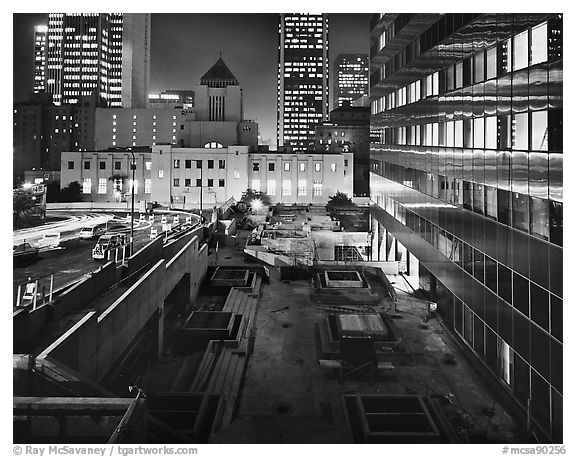California Plaza Construction Site, Bunker Hill Series, 1984.  ()