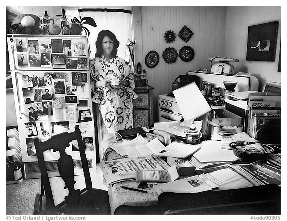 Martha Casanave at Home, 1982.  ()