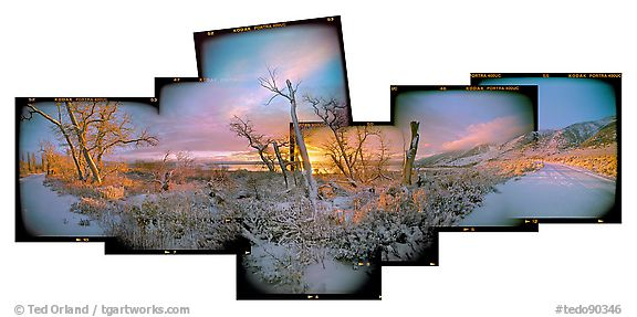 Winter Sunrise, Mono Lake CA, 2004.  ()